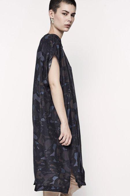 Jason Lingard Terrazzo Silk Tunic Dress