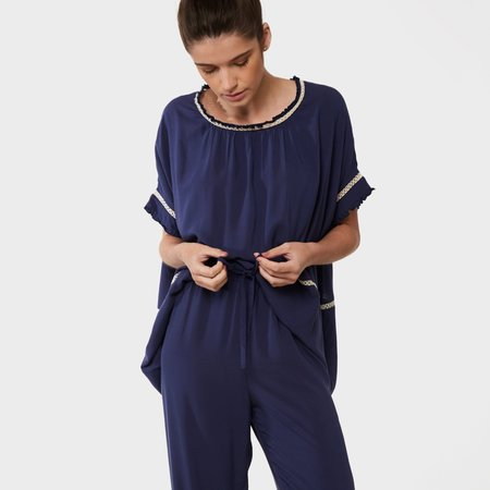 Laing Home Chloe Pyjama Set - French Navy