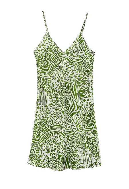 Ciao Lucia Victoria Dress - Green Leopard