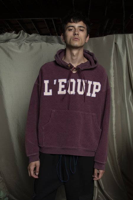 l'equip LEQUIP MULLED MAC SWEATSHIRT - BURGUNDY