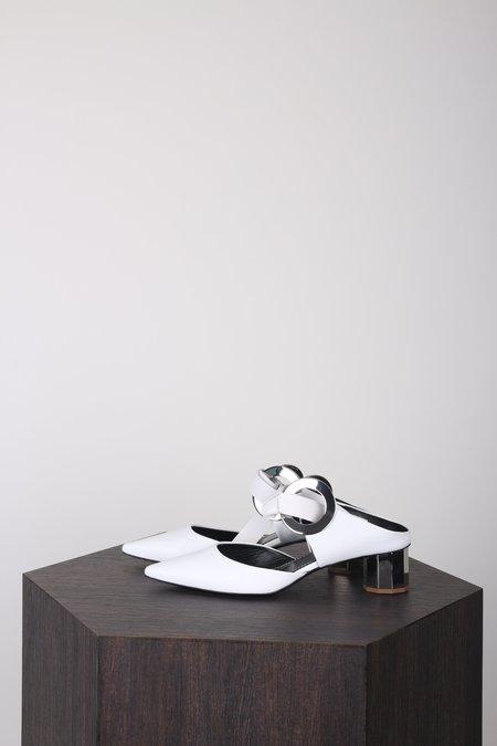 Proenza Schouler Front-tie Block-heel Leather Mules - White