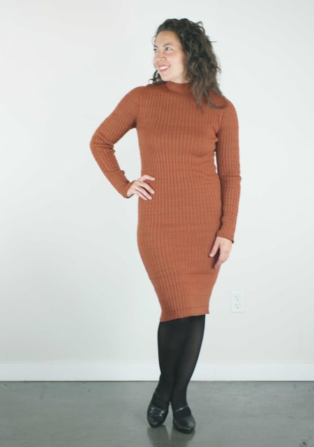 Erdaine Jade Dress - Rust