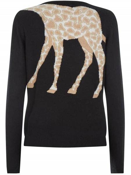 Jumper 1234 Giraffe Sweater - Black