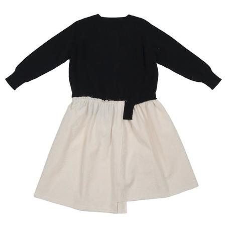 KIDS Tambere Child Asymmetrical Dress With Cashmere Top - Black