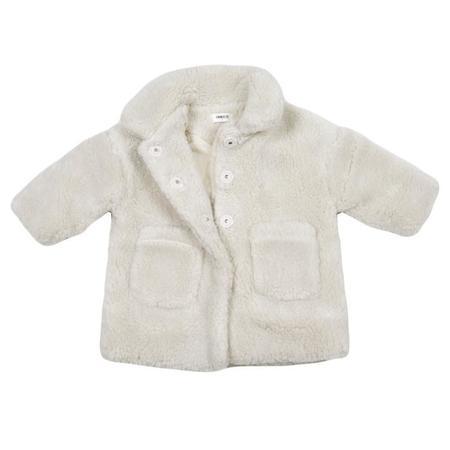 KIDS Tambere Child Faux Fur Coat - Cream