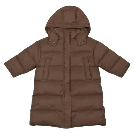 KIDS Tambere Child Quilted Down Coat With Hood - Orange Brown