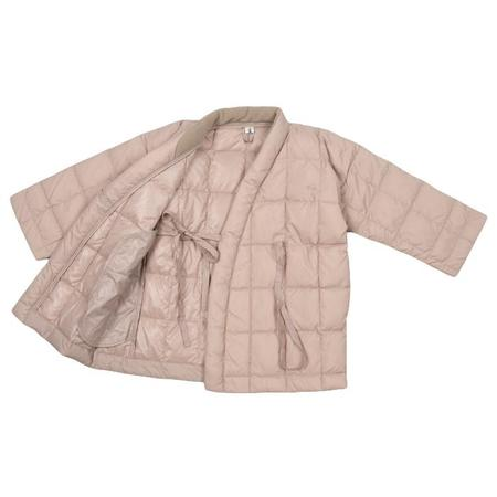 KIDS Tambere Child Quilted Down Coat With Kimono Close - Beige Brown