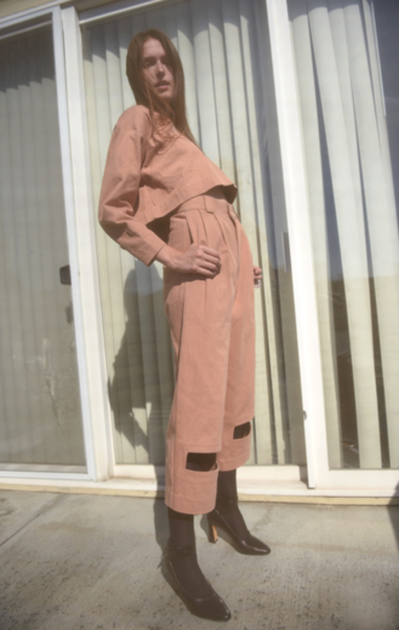 Nancy Stella Soto Rectangle Cut-out Trousers - Bare