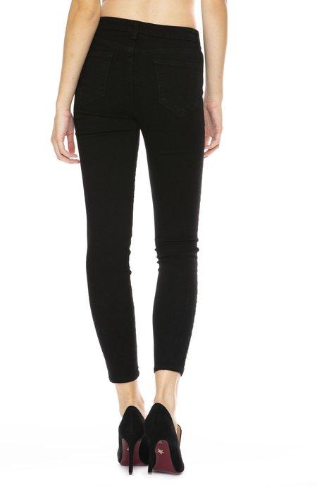 L'agence The Margot Crystal Hem High Rise Ankle Skinny - Noir