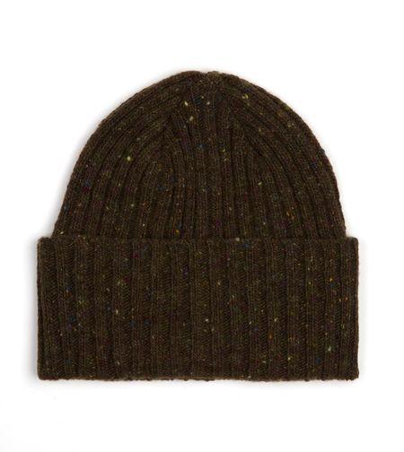 Drake's Donegal Merino Wool Hat - Green