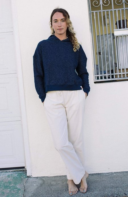 Mollusk Morning Light Pullover - Navy Indigo