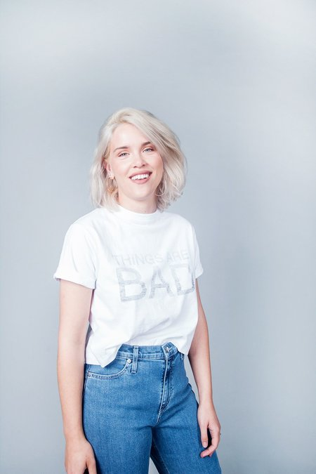 Sara Duke Things Are Bad T-Shirt - White