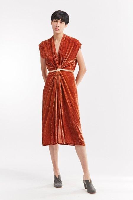 Miranda Bennett Velvet Knot Dress - Quintana