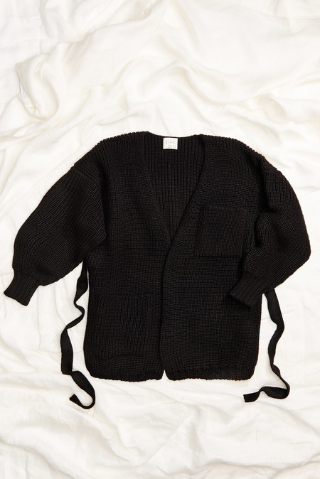 First Rite Sweater Coat in Black
