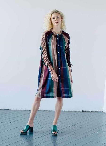 Seek Collective Cy Cotton Woven Shirt Dress - Rua Plaid