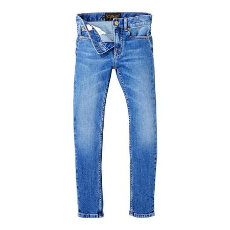 KIDS Finger In The Nose Child Icon Pants Woven 5 Pocket Slim Fit Jeans - Authentic Blue