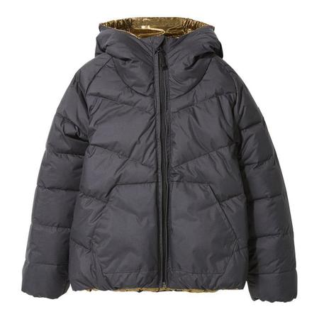 KIDS Finger In The Nose Child Snowdance Reversible Down Winter Jacket - Ash Black/Gold Dots