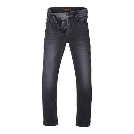 KIDS Finger In The Nose Child Tama Pants Woven Skinny Fit Jeans - Used Black Denim