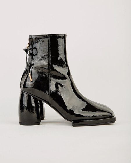 Reike Nen SQUARE RIBBON HALF BOOT - BLACK
