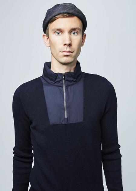 Homecore Ponce Zip Sweater - Dark Navy