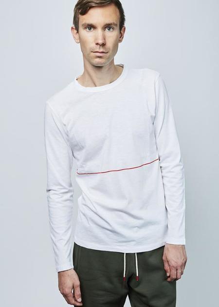 Homecore Reid Long Sleeve Tee - white/red