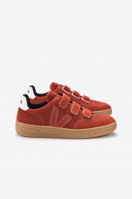 Veja V12 Velcro Suede Sneakers - Rouille