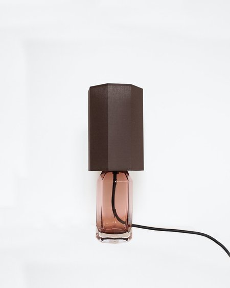 Louise Roe Small Glass Table Lamp - Burgundy