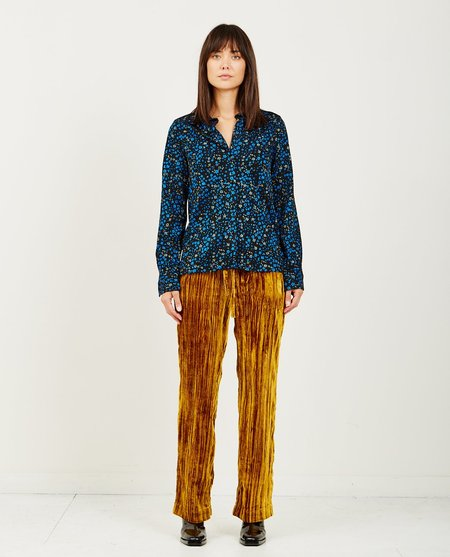 Stine Goya LUCIAN FLORAL PRINT BUTTON UP - LILAS BLACK