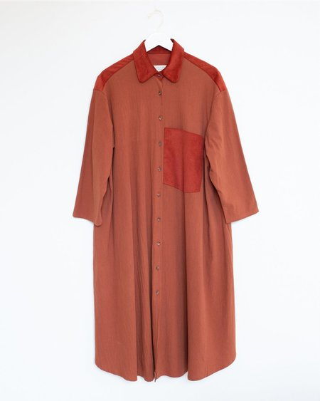 Sunja Link Shirt Dress - Cinnamon