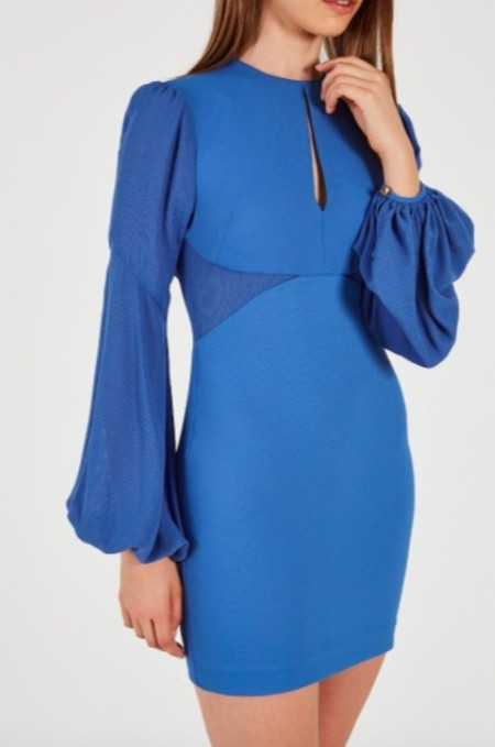 Rebecca Vallance Delphine Mini Dress - Cobalt