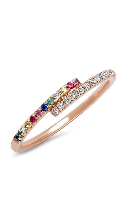 Shain Leyton Gold Rainbow and Diamond Wrap Ring