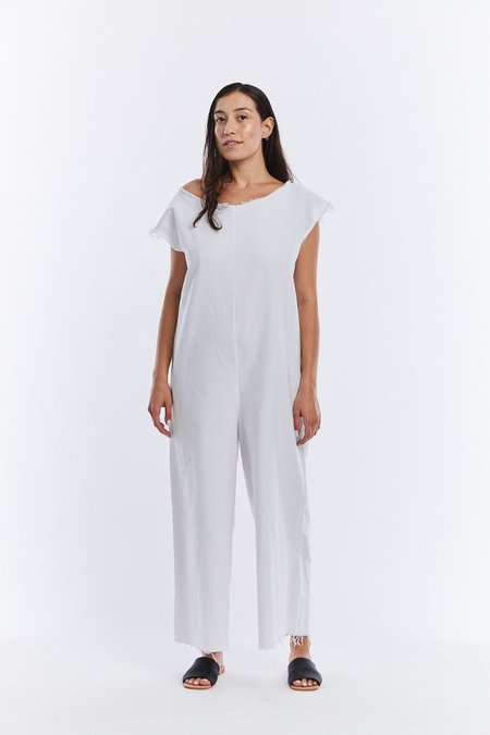 Miranda Bennett Denim Coverall - White
