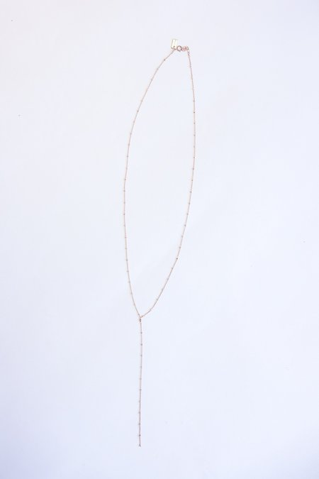 IL Design Eclipse Y Long Necklace - Rose Gold/Pink