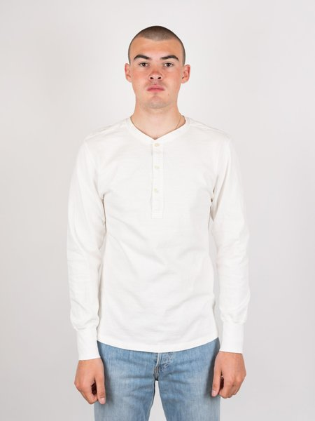 Homespun Coalminer Henley - Off-White