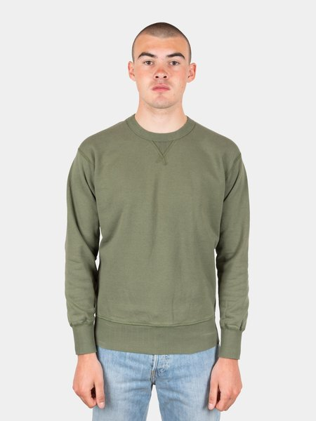 National Athletic Goods Single V Warm Up Piece Dyed Sweatshirt - Army Green