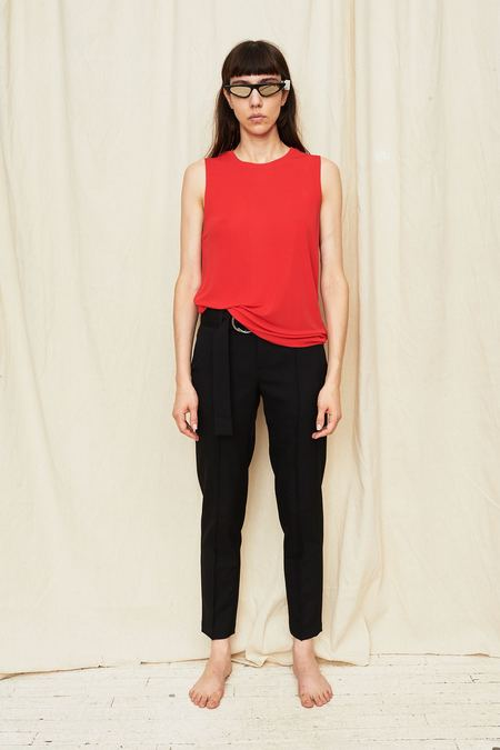 Assembly New York Red Knit Muscle Tee - red