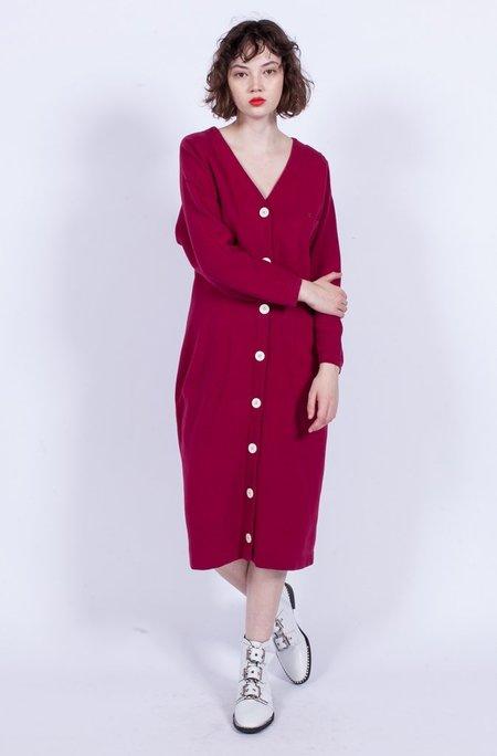 Yo Vintage! Button Dress - Red