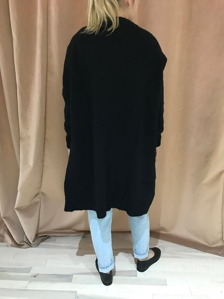 ASSEMBLY LABEL SLOUCHY CARDIGAN - BLACK