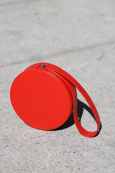Building Block Puck Wristlet Bag - Tomato
