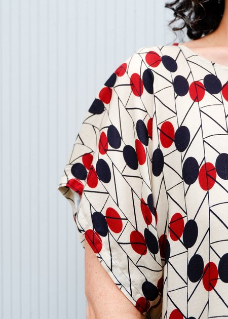 0039 Italy MiMi Pullover Top - Print 0001