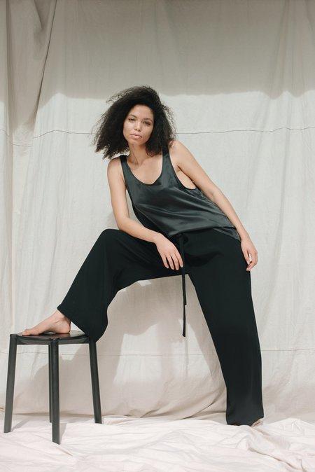Mina Albi Top - Black Silk