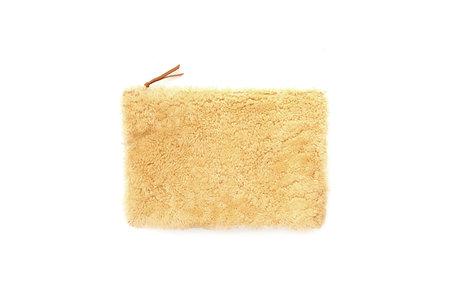 Primecut Sheepskin Clutch - Honey