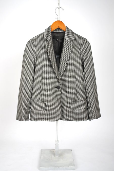 Nili Lotan Humphrey Wool Blazer - Black/White