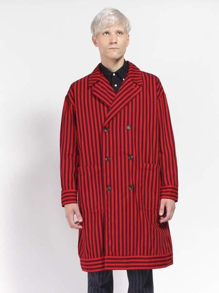 Gustav Von Aschenbach Striped Cotton Coat