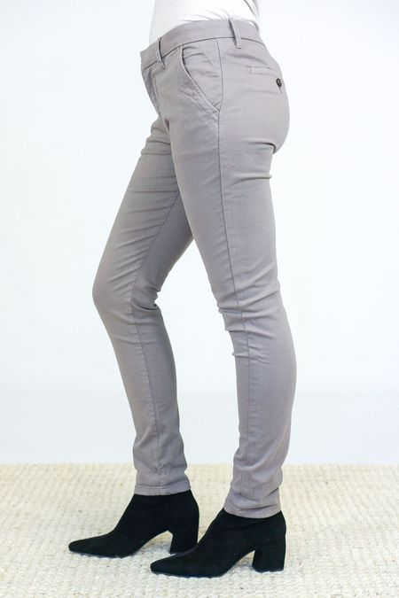 Reiko Chino Trousers - Taupe