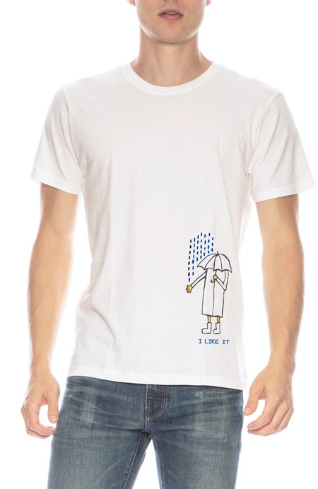 THE ART OF SCRIBBLE Rain T-shirt - IVORY