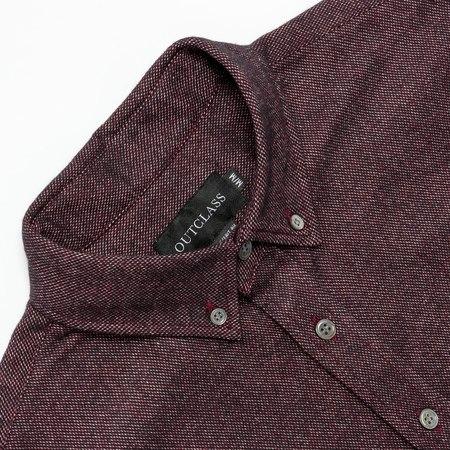Outclass Attire Merlot Flannel Shirt