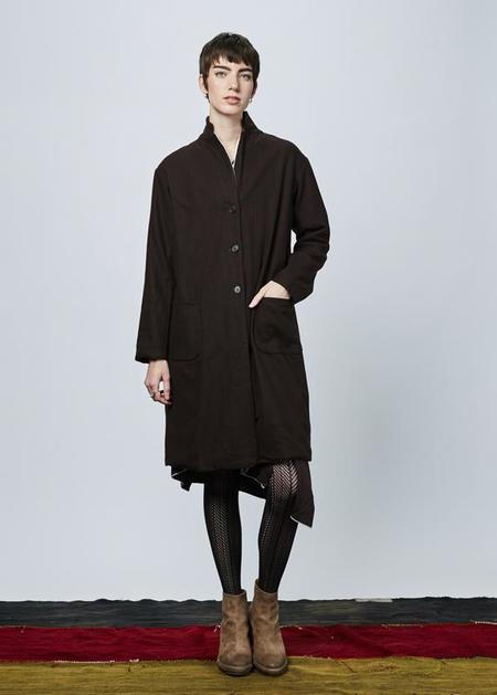 Yoshi Kondo Bell Wool Blend Coat - brown
