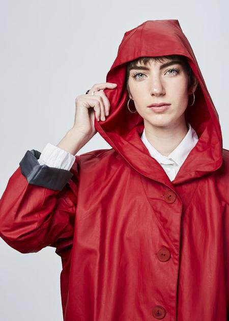 Echappees Belles Evasion Raincoat - red