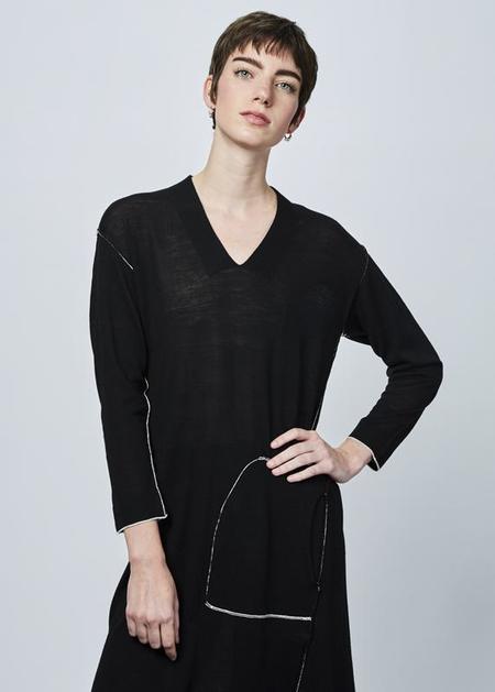 Yoshi Kondo Olive Knit Dress - black